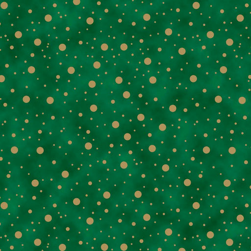 Elegant Christmas - Dot Metallic 9158M-66 Green
