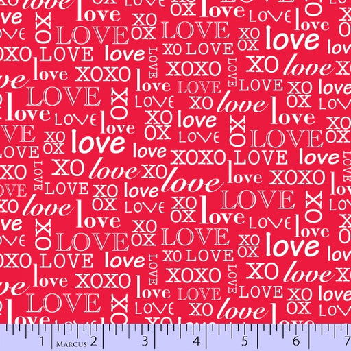So Sweet Love Words 9664-0111 Red