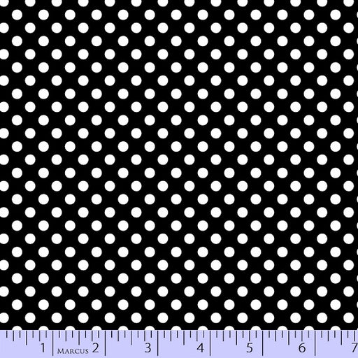So Sweet Love Dots 9668-0112 White on Black