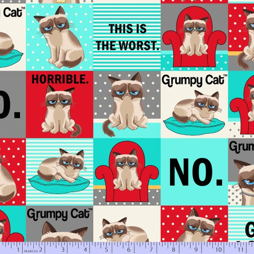 Grumpy Cat Blocks 9724-0120 Blue/Red