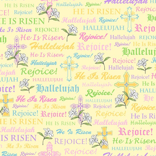 A Joyful Easter Crosses & Religious Words 23719-S Yellow