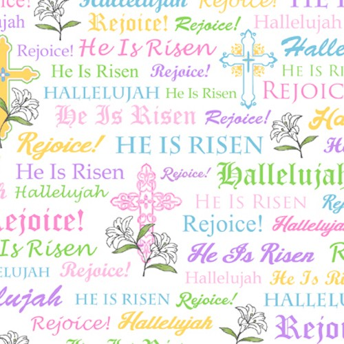 A Joyful Easter Crosses & Religious Words 23719-Z White