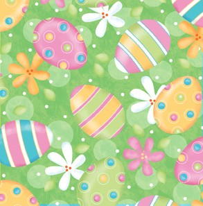A Joyful Easter Eggs & Flowers 23718-H Light Green