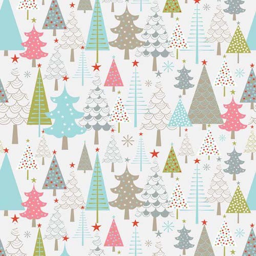 A Merry Little Christmas Trees F3371-Cream