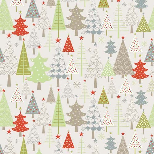 A Merry Little Christmas Trees F3371-Taupe