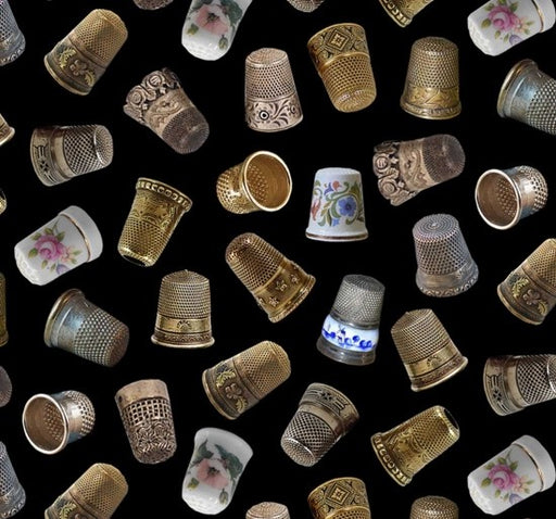 A Stitch In Time Thimbles 402-Black