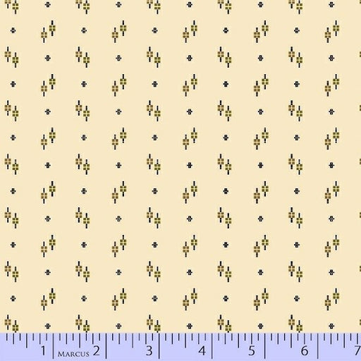 Antique Cotton Square Dots 1741-0167