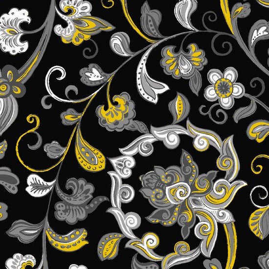 Arabella Small Floral 7176-44 Yellow
