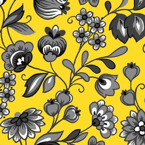 Arabella Floral 7177-44 Yellow