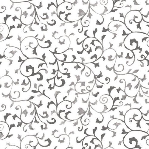 Arabella Scroll Vines 7179-09 Gray