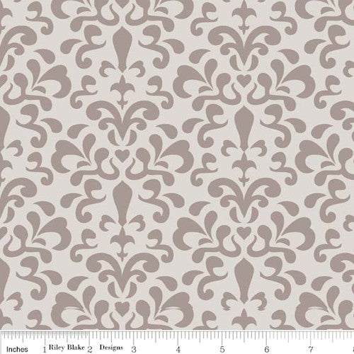 Ashbury Heights Damask C3343-Gray