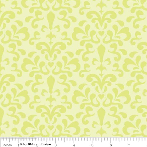 Ashbury Heights Damask C3343-Citron