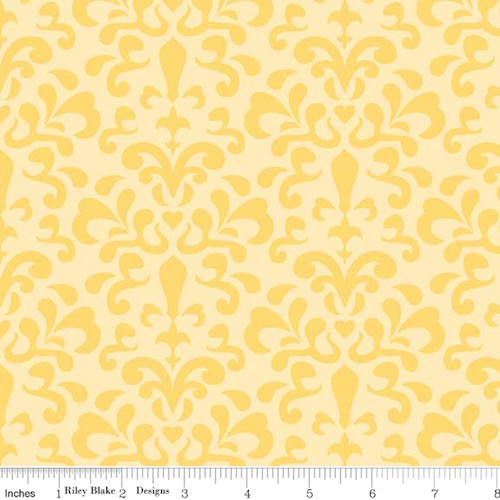 Ashbury Heights Damask C3343-Yellow