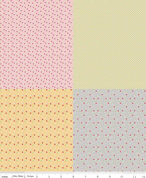 Bake Sale Fat Quarter Panel FQP3434-Green