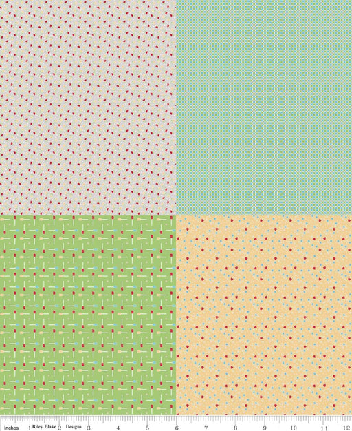 Bake Sale Fat Quarter Panel FQP3434-Gray