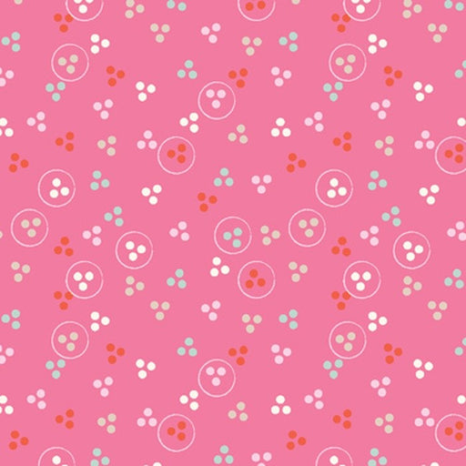 Beautiful Garden Girl Ditsy Dot 2188-22 Pink