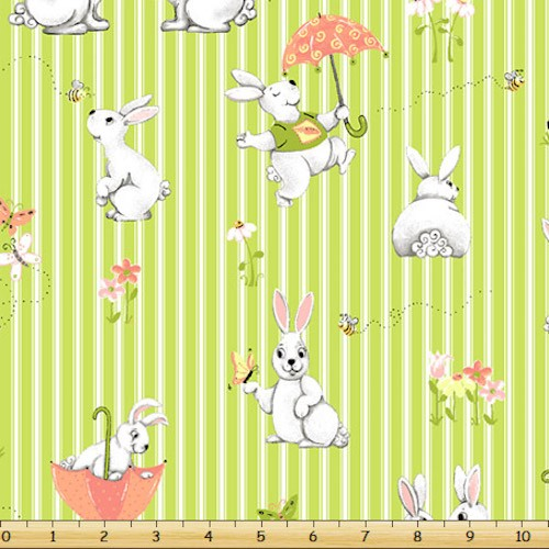 Bunny and Friends Bunny Stripe SB-20182-830 Kiwi