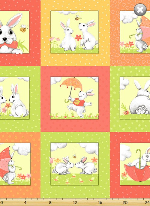 Bunny and Friends Patchwork SB-20181-440 Coral