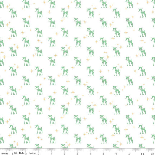 Cozy Christmas Flannel Reindeer F5364-White