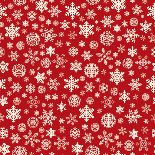 Christmas Delivery - Christmas Snowflake C7333 Red