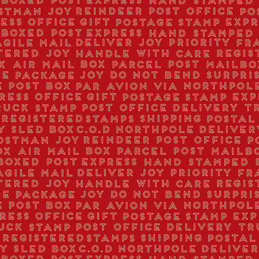 Christmas Delivery - Christmas Text C7335 Red