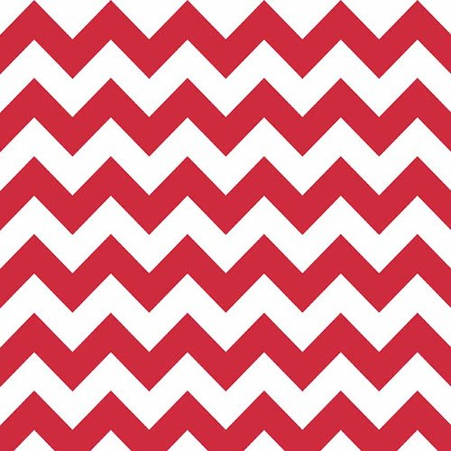Cotton Chevron Medium C320-080 Red