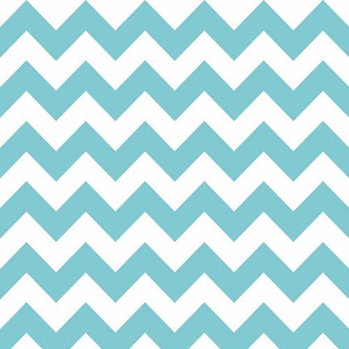 Cotton Chevron Medium C320-020 Aqua