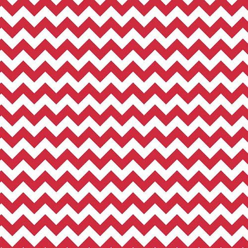Cotton Chevron Small C340-080 Red