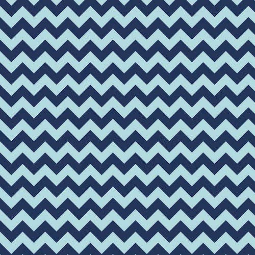 Cotton Chevron Small C400-023 Navy