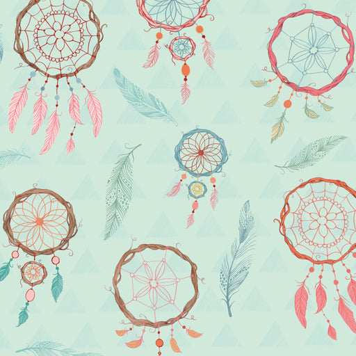 Dream Catchers Flannel Dream Catchers F3225-11 Aqua