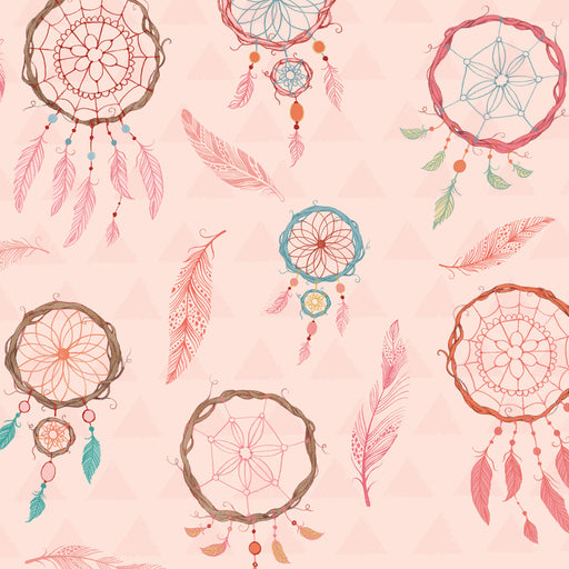 Dream Catchers Flannel Dream Catchers F3225-22 Pink