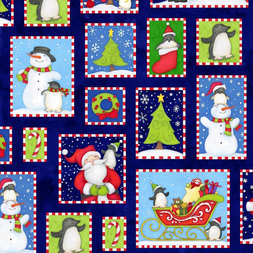 North Pole Greetings Christmas Boxes  F3294-77 Navy