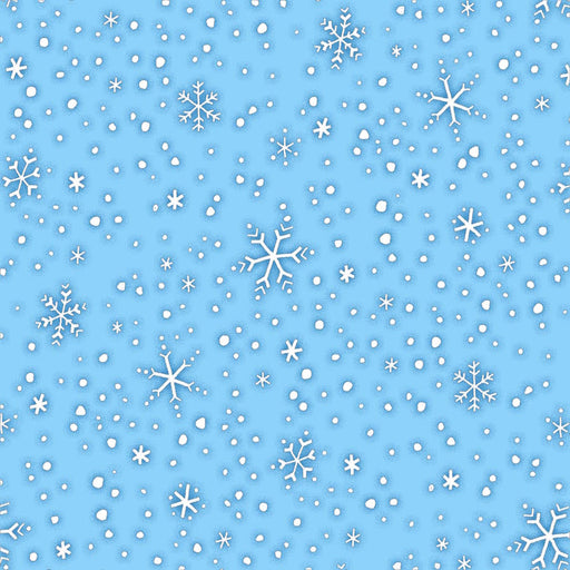 North Pole Greetings Snowflakes F3300-11 Light Blue