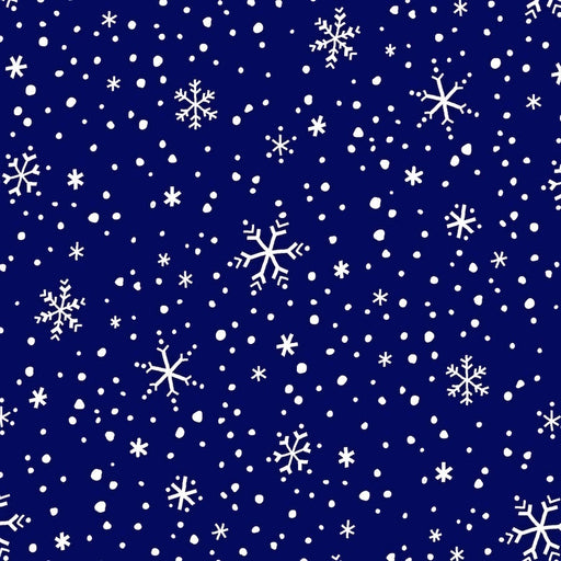 North Pole Greetings Snowflakes F3300-77 Navy