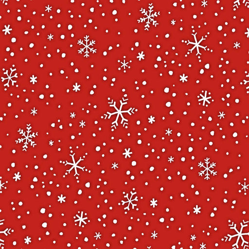 North Pole Greetings Snowflakes F3300-88 Red