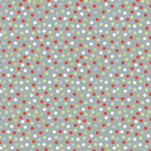 A Merry Little Christmas Flannel Dot F3374-Grey