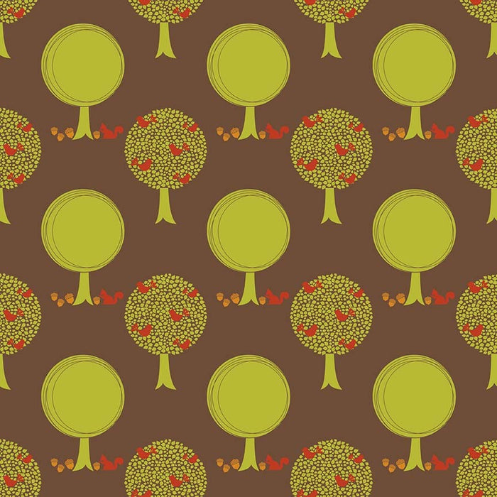Acorn Valley Flannel Forest F5321-Brown