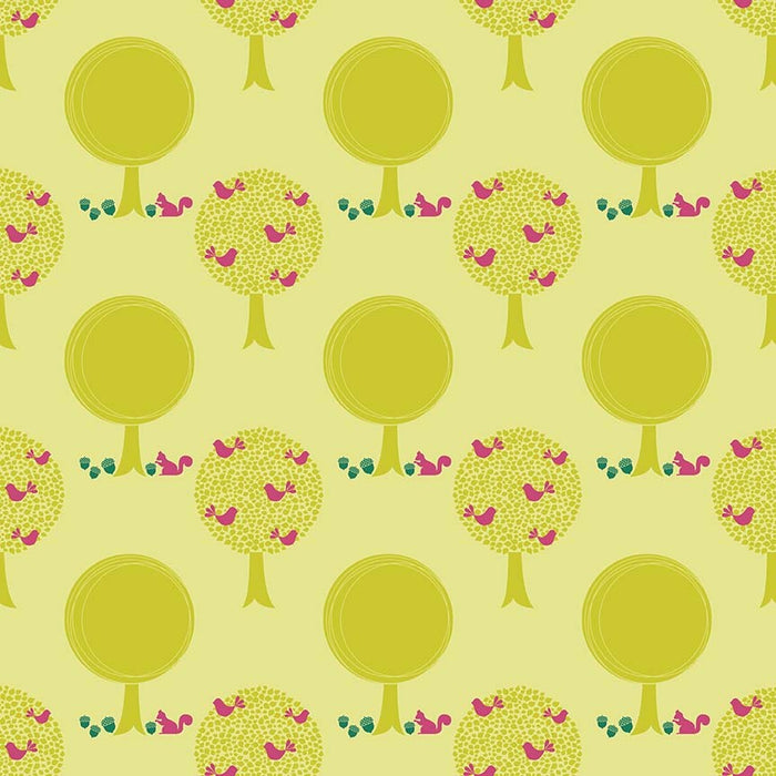 Acorn Valley Flannel Forest F5321-Citron