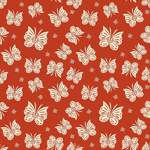 Acorn Valley Flannel Flutter F5322-Red