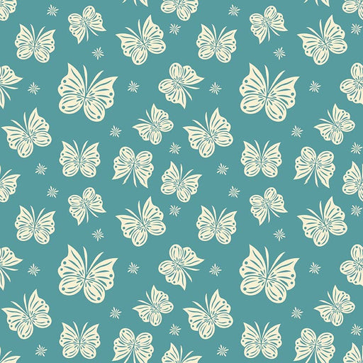 Acorn Valley Flannel Flutter F5322-Teal