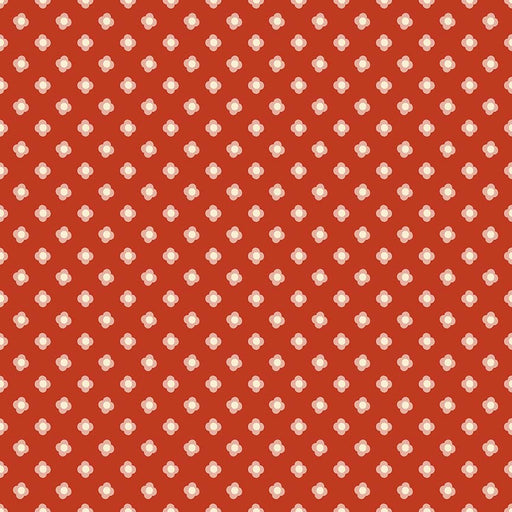 Acorn Valley Flannel Bloom Dot F5324-Red