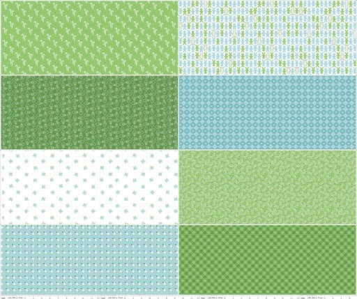 Cozy Christmas Fat Eighth Panel FEP5362-Green
