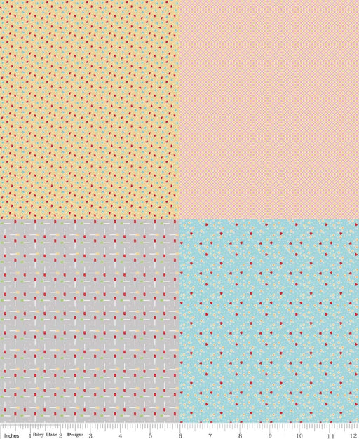 Bake Sale Fat Quarter Panel FQP3434-Blue
