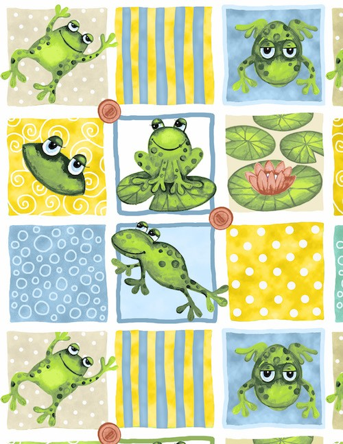 Froggin' Around Patches 7395-11 Light Blue