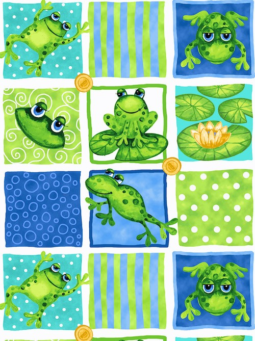 Froggin' Around Patches 7395-77 Blue
