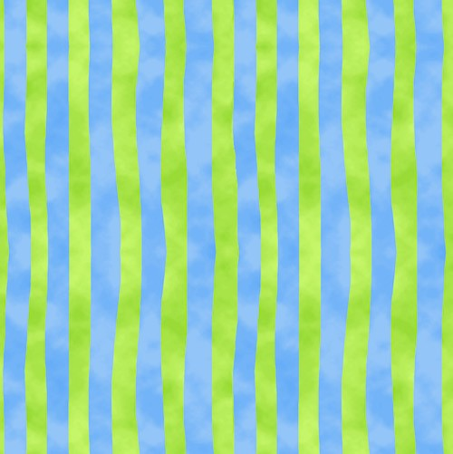 Froggin' Around Stripes 7396-77 Blue