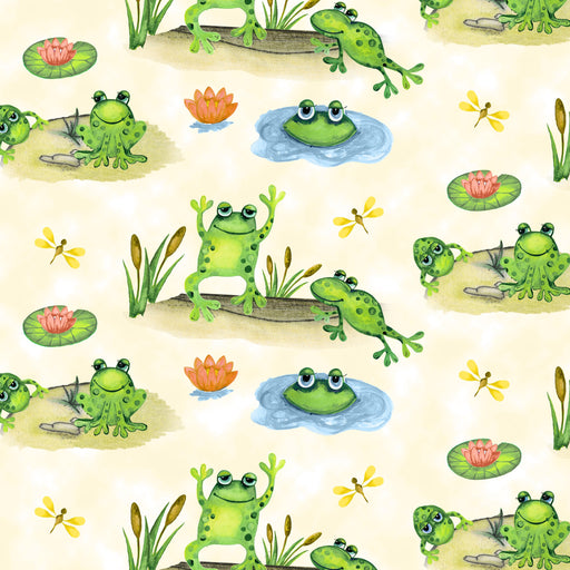 Froggin' Around Frogs in Ponds 7401-44 Ivory