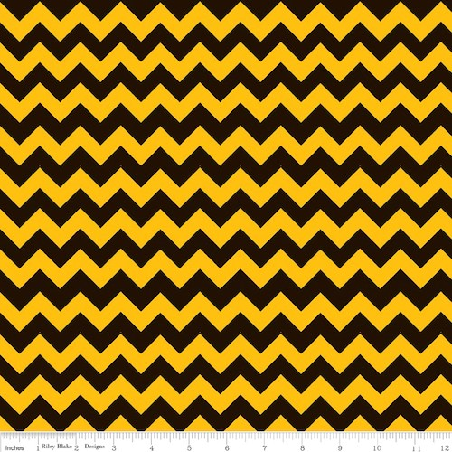 Cotton Chevron Small C400-001 Black/Gold