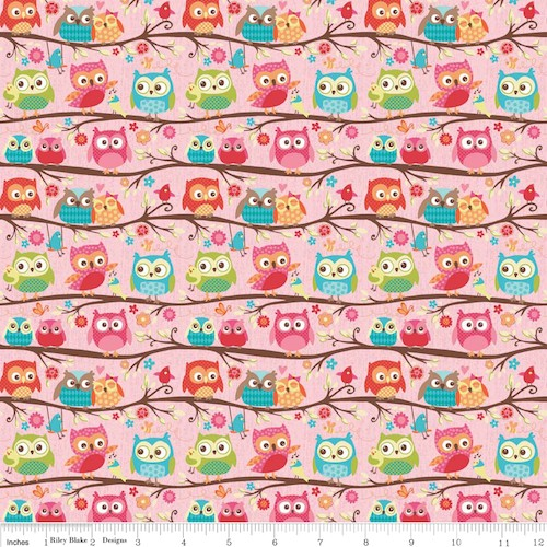 Happy Flappers Owls F4021-Pink
