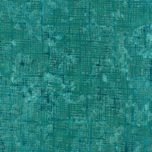 Pearl Grid L8089-67 Teal (with Gold Metallic Accent)